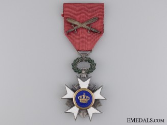 A Belgian Order of the Crown; Knight with Swords