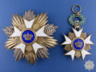 A Belgian Order of the Crown Grand Cross Set by J.Funson