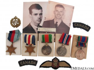 A Birks Bar Memorial Group to Pilot C.E.Brooks RCAF