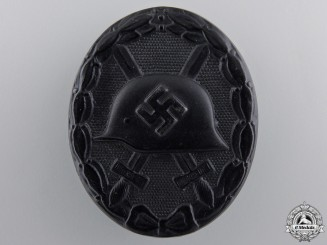A Black Grade German Wound Badge by Wilhelm Deumer