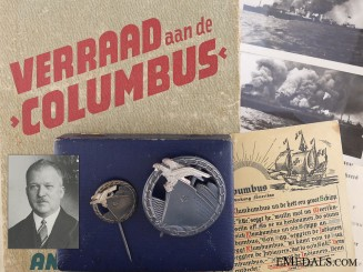 A Mint Blockade Runner Badge Group to S.S. Columbus