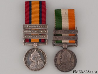 A Boer War Miniature Pair