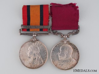 A Boer War Pair to Gunner W. Creswell Royal Horse Artillery