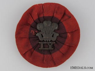 A Boer War Royal Wiltshire Imperial Yeomanry Rosette Badge