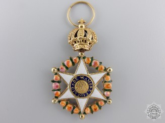 A Brazilian Order of the Rose in Gold;  Knight's Badge