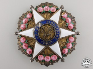 A Brazilian Order of the Rose; Dignitary Breast Star