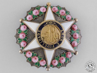 Brazil. An Order of the Rose, Commander's Star, c.1880