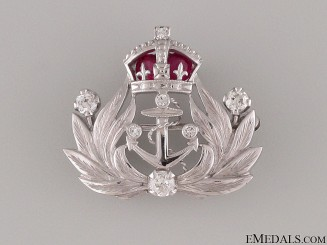 A British Gold, Rubies & Diamonds Naval Brooch