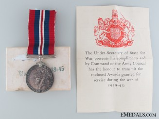 A British Issued War Medal 1939-45