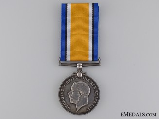 A British War Medal to Second Lieutenant Cunningham