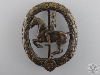 A Bronze Grade German Horseman's Badge by L.CHR.Lauer