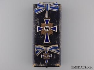 A Bronze Grade Mother's Cross; Fullsize and Miniature