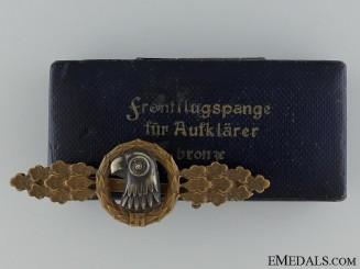 A Bronze Grade Reconnaissance Clasp by C. E. Juncker Berlin SW