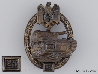 A Bronze Grade Tank Badge by JFS; Grade II