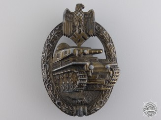 A Bronze Grade Tank Badge by Rudolf A Karneth & Named