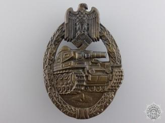 A Bronze Grade Tank Badge by Ferdinand Wiedmann