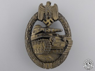A Bronze Grade Tank Badge by Steinhauer & Luck