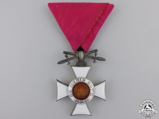 A Bulgarian Order of St. Alexander with Swords; Fifth Class