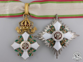 A Bulgarian Order of Civil Merit; Commander's Cross by Godet