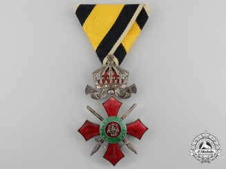 Bulgaria, Kingdom. An Order for Military Merit, crown and swords, Fifth Class, c.1915