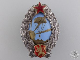 A Bulgarian Paratrooper Badge