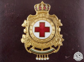 Bulgaria, Kingdom. A Red Cross Badge in Case, c.1915