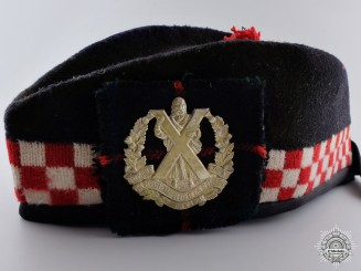 A Cameron Highlanders of Ottawa (M.G.) Glengarry Cap