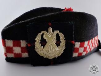 A Cameron Highlanders of Ottawa (M.G.) Glengarry Cap