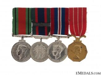 A Canadian Forces Decoration Miniature Group