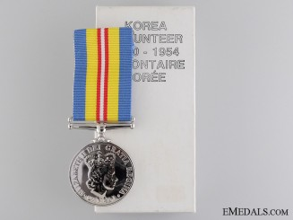 A Canadian Korea Volunteer Service Medal 1950-54