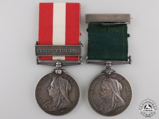 Canada. A Long Service Pair to the St.John Volunteer Battalion