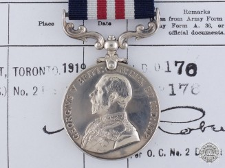 Canada, Dominion. A Military Medal for Actions at the Battle of Amiens