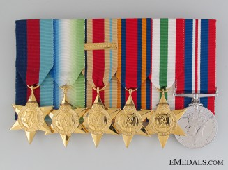 A British Second War Medal Bar