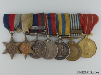 A Canadian Second War & Korea Medal Bar of Seven
