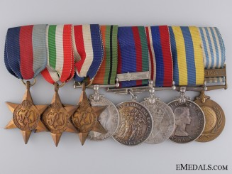 A Canadian Second & Korean War Medal Bar to L.M.Welbanks