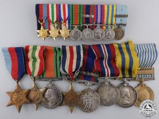 Canada. A Second War & Korea Medal Bar to C.J. Arsenault