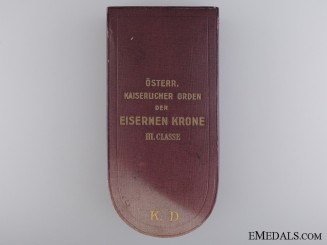 A Case for Austrian Order of the Iron Crown; Vinc Mayer & S¡_hne