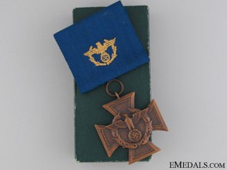 A Cased Customs Service Decoration