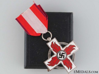 A Cased Fire Brigade Cross 2nd Class