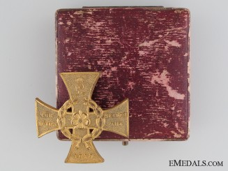 A 1914 Lippe-Detmold War Merit Cross First Class with Case