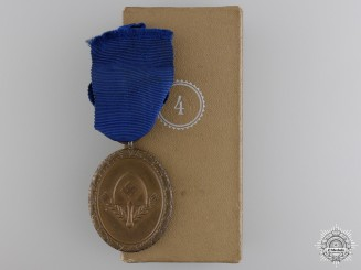 A Cased RAD Long Service Award for Men; Four Years Service