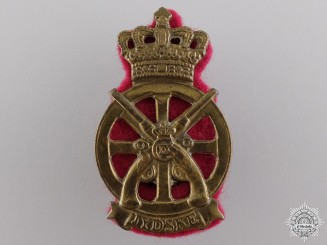 A Christian IX Danish Jydske Transport Regiment Cap Badge
