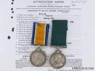 A Colonial Auxiliary Long Service Medal Pair to the 135th Infantry