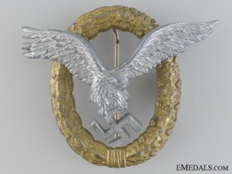 A Combined Pilot & Observer Badge by Friedrich Linden, Lüdenscheid