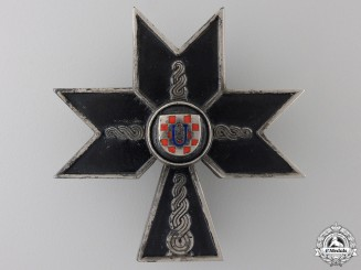A Croatian Order of the Iron Trefoil; Second Class