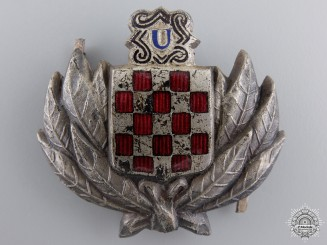 A Croatian Treasure Guard Badge