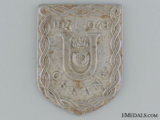 A Croatian Ustasha Defense Badge