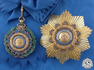 A Cuban Order of Carlos Manuel Cespedes; Grand Cross Set