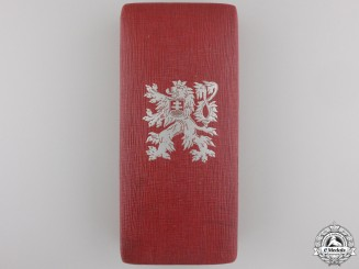 A Czech Order of the White Lion Case for a Knight's Badge