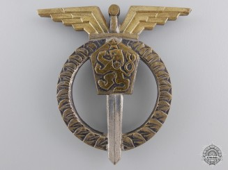 Czechoslovakia, Republic. An Air Force Pilot Badge, I Class